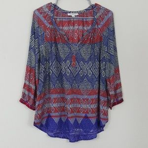 Beachlunchlounge Collection Pattern Boho Blouse S